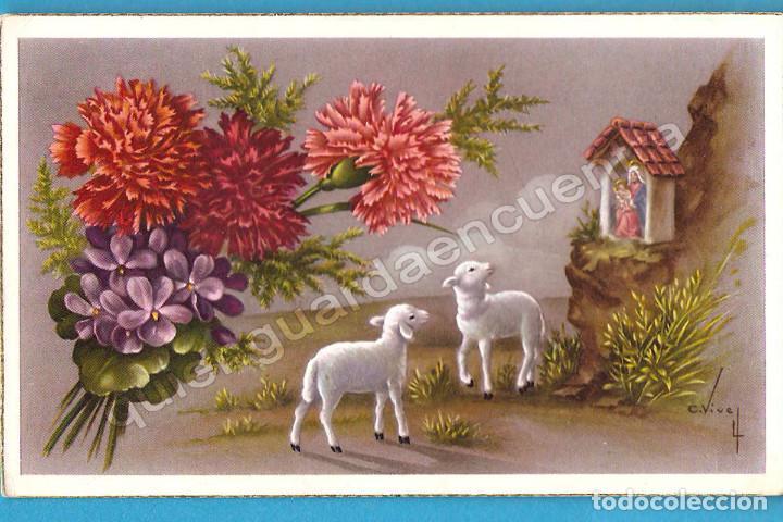 Postales: 2 postales oveja cordero C/Z 560/A nº 5 y 552/A nº2 Carles Vives - Foto 2 - 112266655