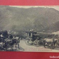 Postales: POSTAL FRANCESA TRANSITO DE DILIGENCIAS DE BOURG-MADAME A AX. PIRINEOS ORIENTALES. Lote 115585799