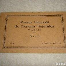 Postais: LIBRO 10 POSTALES, MUSEO NACIONAL DE CIENCIAS NATURALES (MADRID) AVES 1ª SERIE - JOSE Mª BENEDITO. Lote 146122970