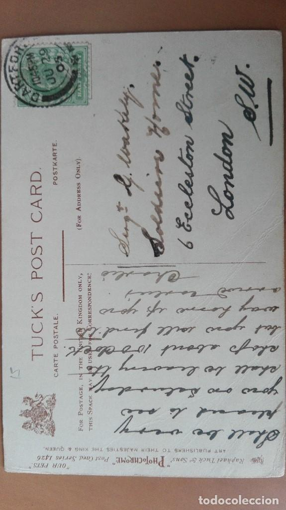 Postales: POSTAL ELEFANTES ELEPHANTS BABY JUMBO´S TOILET EDIC INGLESA COLOR CIRCULADA 1905 PERFECTA CONSERVACI - Foto 2 - 120885899