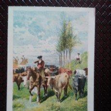 Postales: TARJETA POSTAL ARTÍSTICA ESPAÑOLA. ENCIERRO. 4. SIN CIRCULAR. SIN CIRCULAR.. Lote 128319471