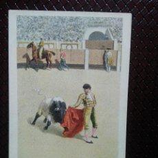 Postales: TARJETA POSTAL ARTÍSTICA ESPAÑOLA. CAPEO A LA VERÓNICA. 13. SIN CIRCULAR. SIN DIVIDIR.. Lote 128321607