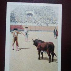 Postales: TARJETA POSTAL ARTÍSTICA ESPAÑOLA. CITANDO A BANDERILLAS. 14. SIN DIVIDIR. SIN CIRCULAR.. Lote 128321807