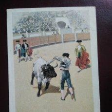Postales: TARJETA POSTAL ARTÍSTICA ESPAÑOLA. BANDERILLAS AL CUARTEO. 15. SIN CIRCULAR. SIN DIVIDIR.. Lote 128321963