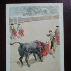 Postales: TARJETA POSTAL ARTÍSTICA ESPAÑOLA. ESTOCADA A VOLAPIÉ. 18. SIN CIRCULAR. SIN DIVIDIR.. Lote 128322311