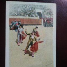 Postales: TARJETA POSTAL ARTÍSTICA ESPAÑOLA. APLAUSOS AL MATADOR. 20. SIN DIVIDIR. SIN CIRCULAR.. Lote 128322523