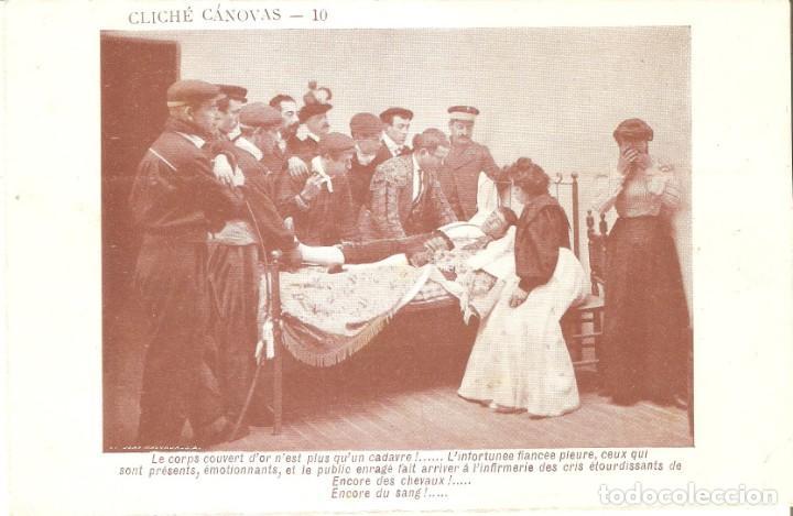 Postales: TORO. VELANDO EL CADÁVER DE UN TORERO - Foto 2 - 134149798