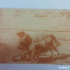 Postales: BJS. BONITA POSTAS. TOROS. TAUROMAQUIA. GOYA. EDICION HAUSER Y MENET. SIN USO.MADRID. Lote 136713886