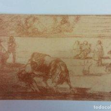 Postales: BJS. BONITA POSTAS. TOROS. TAUROMAQUIA. GOYA. EDICION HAUSER Y MENET. SIN USO.MADRID. Lote 136713934