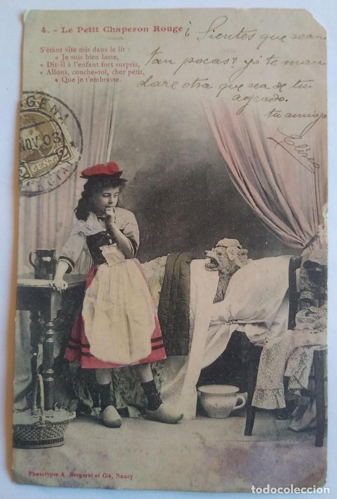 1903 LE PETIT CHAPERON ROUGE LA CAPERUCITA ROJA (Postales - Postales Temáticas - Animales)
