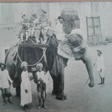Postales: POSTAL INDIA BOMBAY ELEFANTES AN ELEPHANT RIDE ELEFANTE ASIATICO TRANSPORTE PERFECTA CONSERVACION. Lote 139963154