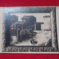 Postales: POSTAL POST CARD BURRO ASNO CON ALFORJAS EN PUEBLO. Lote 141542070