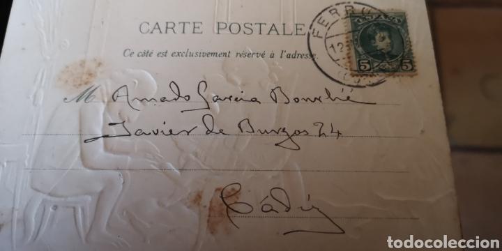 Postales: Postal troquelada de gatos y monos año 1903 - Foto 2 - 145405350