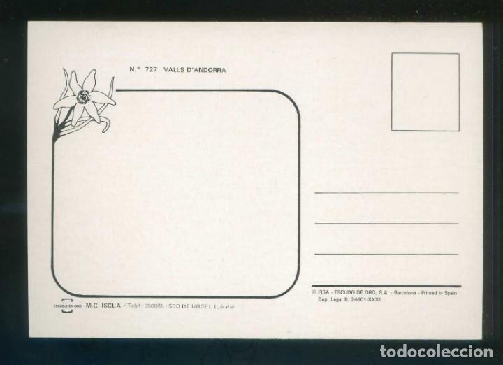 Postales: Perro. Andorra. Ed. Fisa nº 727. Dep. Legal B. 24601-XXXII. Nueva. - Foto 2 - 145996706