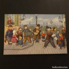 Postales: GATOS MUSICOS POSTAL CROMOLITOGRAFICA . Lote 146161506