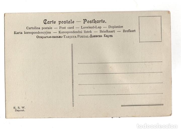 Postales: TARJETA POSTAL MARIPOSA. CON ALAS HECHAS A BASE DE PLUMAS. E.S.W. - Foto 2 - 148025245