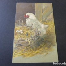 Postales: GALLINA CON NIDO POSTAL EN RELIEVE. Lote 154559286