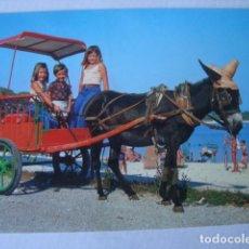 Postales: POSTAL PASEO EN BURRO-TAXI (SAVIR, BARCELONA). USADA.. Lote 155157162