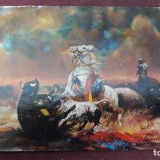 Postales: TARJETA POSTAL SERIE G. NO 502 OLEO DE A. PALMEMRO.. FURIA. Lote 155502814