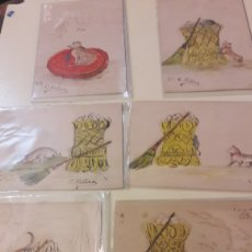 Postales: C.FITERA HISTORIA GATO Y RATÓN OLEO ORIGINAL. Lote 166556798