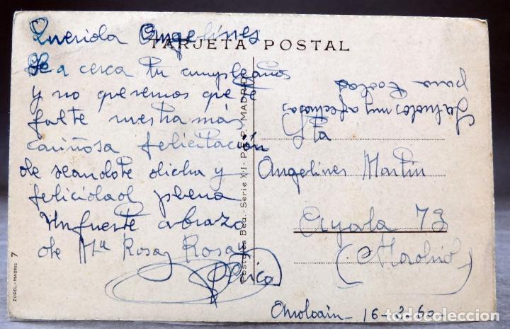 Postales: Postal mariposas Muchas Felicidades Zugel Postales Bea Serie XI escrita 1960 - Foto 2 - 170526236