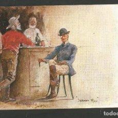 Postales: MONTADOR DE CABALLO DESCANSANDO-POSTAL ANTIGUA-(62.019). Lote 175704997