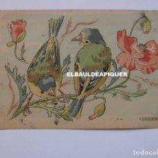 Postales: DIBUJOS DE PAJAROS. U.A. VERDIERS. Lote 177959334