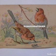 Postales: DIBUJOS DE PAJAROS. U.A. REOGE-GORGE. Lote 177959453