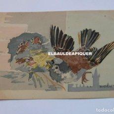 Postales: DIBUJOS DE PAJAROS. U.A. MOINEAUX. Lote 177959642