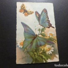Postales: MARIPOSAS CON FLORES POSTAL. Lote 178238708