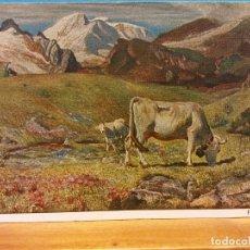 Postales: G. SEGANTINI. FRÜHLINGSWEIDE. PASTURAGE IN SPRING. NUEVA. Lote 178682408