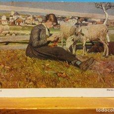 Postales: G. SEGANTINI. HIRTIN IN SAVOGNINO. SHEPHERDESS IN SAVOGNINO. NUEVA. Lote 178682920