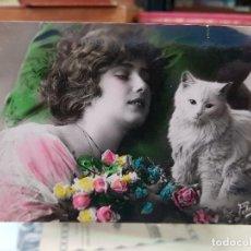 Postales: ANTIGUA POSTAL ROMANTICA GATO FOTO ARS. Lote 178802493