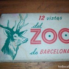 Postales: 12 VISTAS DEL ZOO DE BARCELONA DIFÍCIL. Lote 181226866