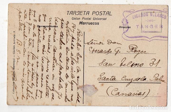 Postales: Camellos del Sahara. Marruecos. Franqueada. - Foto 2 - 181538330