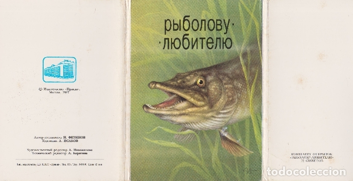 Postales: CARPETILLA 12 POSTALES - PECES TROPICALES - TEXTO EN RUSO - MOSCU - 1987 - Foto 13 - 181611997