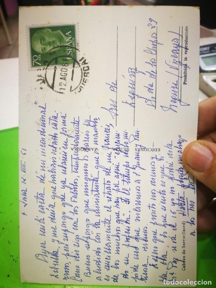 Postales: Postal Cabeza de Sarrio 1961 escrita y sellada - Foto 2 - 182769331
