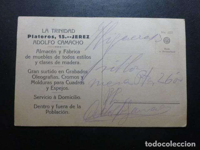 Postales: PAJAROS POSTAL PUBLICITARIA LA TRINIDAD ADOLFO CAMACHO JEREZ DE LA FRONTERA CADIZ - Foto 2 - 183400117