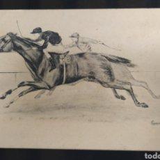 Postales: C.R. POSTAL ANTIGUA CARRERA DE CABALLOS. Lote 191688488
