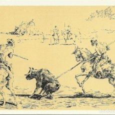 Postales: 7 TARJETAS POSTALES TAURINAS , DIBUJOS ORIGINALES DE A.ROJAS - TOROS. Lote 191740683