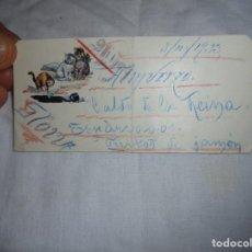 Postales: BONITA TARJETA DE MENU PINTADA A MANO GATITOS 1933. Lote 193184403