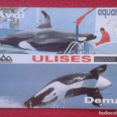 Postales: POSTAL LIBERTAD ULISES ZOO BARCELONA ZOOLÓGICO ADDA DEMÁ ORCA WHALE AND DOLPHIN CONSERVATION SOCIETY. Lote 193720938