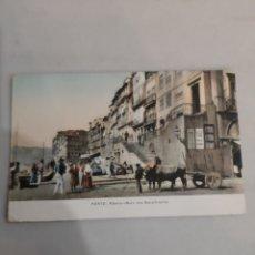 Postales: PORTO RIBEURA MURO CARRO CON BUEYES PRINCIPIOS ALOS 1929. Lote 194509012