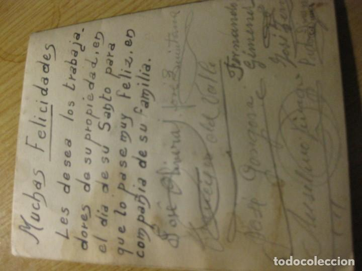 Postales: preciosa antigua felicitacion troquelada desplegable C, vive . mariposa - Foto 3 - 194536687