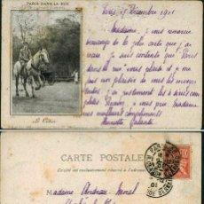 Postales: POSTAL PARIS 6E BOULEVARD ST MICHEL SERIE D DANS LA RUE N° 3 METIER LE COTIER . Lote 195073462