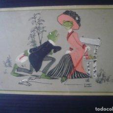 Postales: DECLARACIÓN DE AMOR ENTRE RANAS.. Lote 195190698