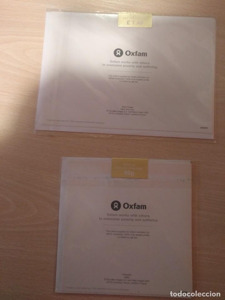 Postales: LOTE 2 TARJETAS DE FELICITACION GATOS NUEVAS Y PRECINTADAS OXFAM LONDON CON SOBRES - Foto 2 - 195432526