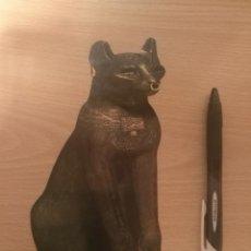 Postales: POSTAL SILUETA DE THE GAYER ANDERSON CAT - DIOSA DEIDAD EGIPCIA GATA BASTET - THE BRITSH MUSEUM. Lote 195537871