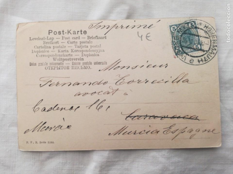 Postales: POSTAL ANTIGUA DE UNA NIÑA CON UN PERRO. - Foto 2 - 199491666