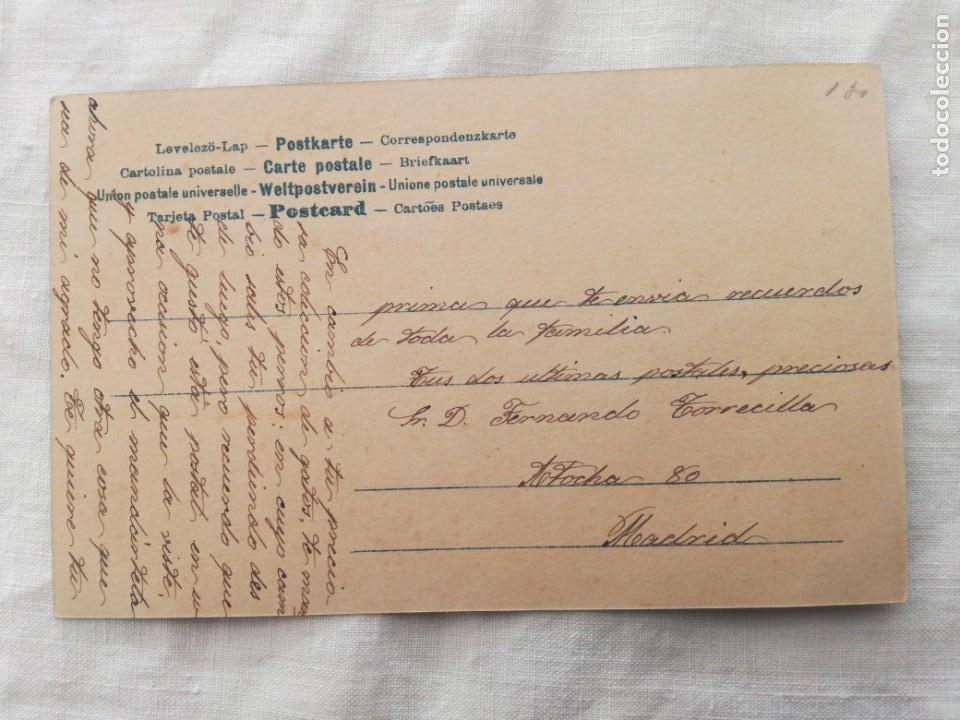Postales: POSTAL ANTIGUA DE 1906 CON UN GRUPO DE PERRITOS. - Foto 2 - 199492092